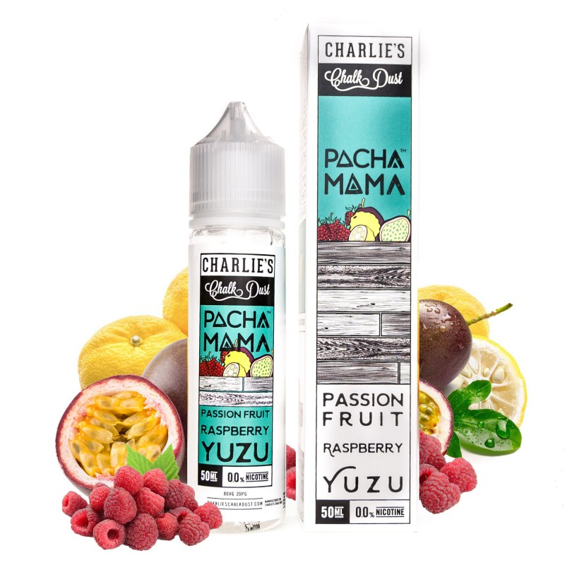 Passion Fruit Raspberry Yuzu 50ml Charlie's - Pachamama